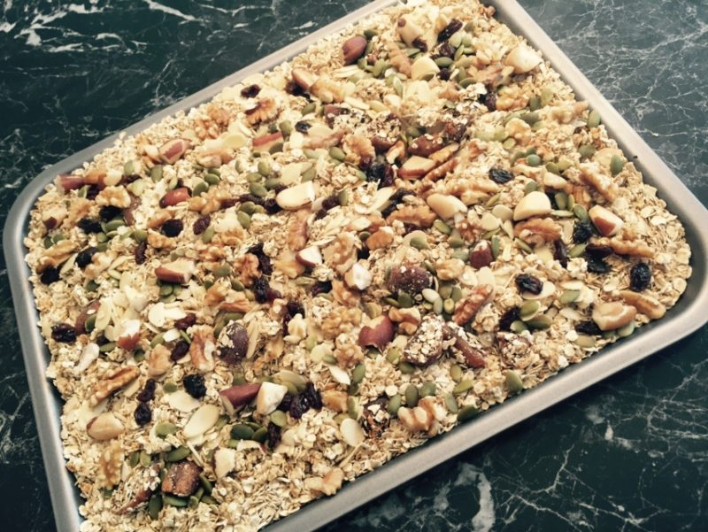 Having a healthy breakfast is very important, try our healthy granola recipe
