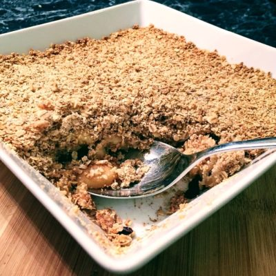 Try our healthy apple crumble recipe